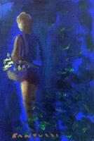 Work of  Copie d'Autore - Figura (Eliano Fantuzzi) oil canvas cardboard